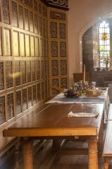The head table in the Tudor parlour