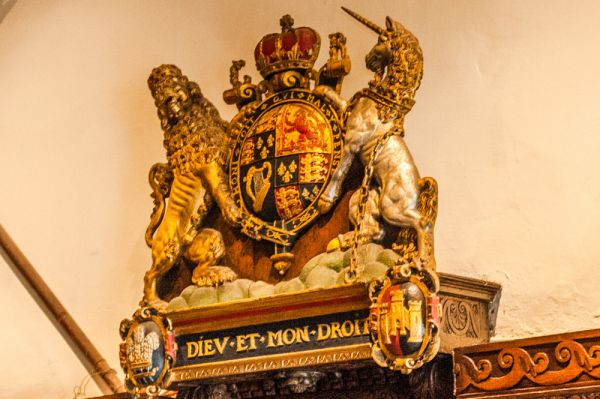 Tucker's Hall photo, Royal coat of arms in the Upper CHamber