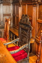 The Master's chair in the Upper Chamber