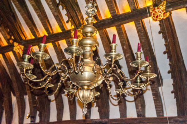 Tucker's Hall photo, 17th century chandelier