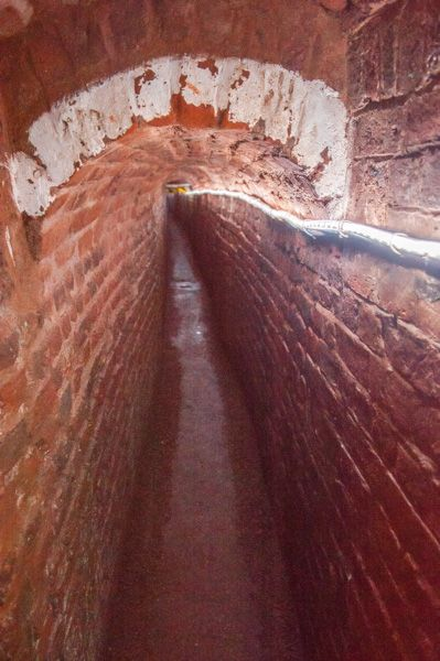 Exeter's Underground Passages photo, A beautifully vaulted section of passage