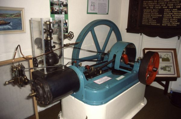 Exmouth photo, an old steam engine in Exmouth Museum (c) Chris Allen
