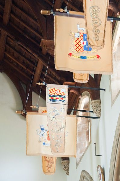 Exton Church photo, Noel funerary banners