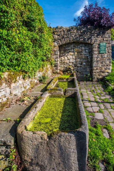 Eyam photo, Hall Hill water troughs, 1578