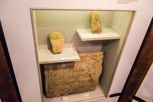 Eyam Museum photo, Plague victims' headstones