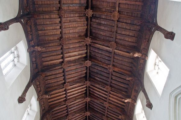 Eye, Suffolk Church photo, Timber roof in nave