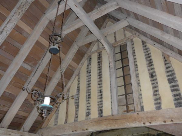 Fairfield, St Thomas Becket Church photo, The timber-framed interior construction
