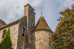 A restored Scottish baronial style turret