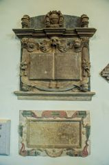17th century wall monuments in the nave
