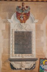 Sir Peter Prideaux memorial, 1705