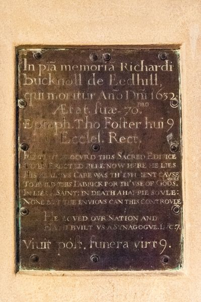 Farway, St Michael & All Angels Church photo, Memorial plaque to Richard Bucknoll, 1632