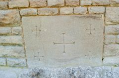 Fawley, St Mary's Church, Consecration crosses, east wall