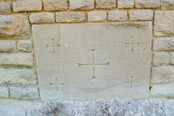 Fawley, St Mary's Church photo, Consecration crosses, east wall
