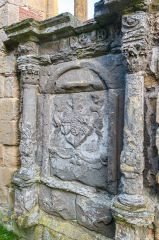 Fearn Abbey, 16th century memorial in the Ross aisle