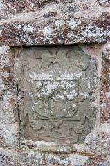 Fetteresso, St Ciaran's Old Church, Heraldic coat of arms on the church wall