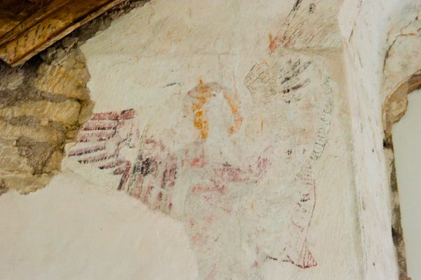 Fiddleford Manor photo, Wall painting