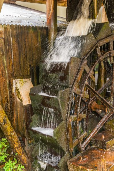 Finch Foundry photo, The water wheel at work