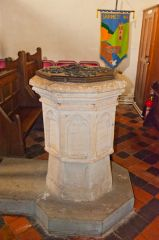 Fingest, St Bartholomew's Church, The 15th century font