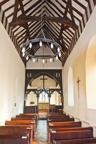 Fingest, St Bartholomew's Church photo, Looking down the narrow nave