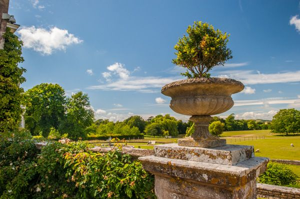 Firle Place photo, A neo-classical garden urn