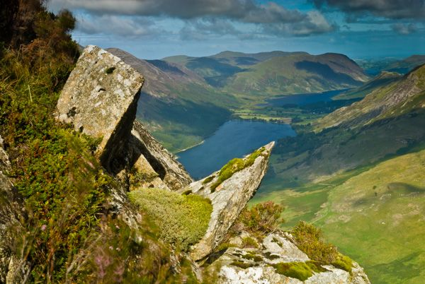 Buttermere Lake photo, Buttermere from Fleetwith Pike
