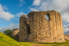 Flint Castle , One of the huge rounded towers
