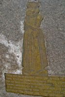 Fordwich, St Mary, Aphra Hawkins, brass