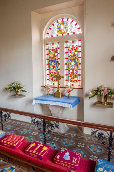 Forest Chapel photo, The altar and east window