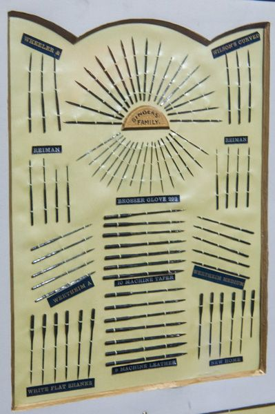 Forge Mill Needle Museum photo, A display of historic needles