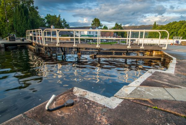 Loch Ness photo, The Caledonian Canal at Fort augustus