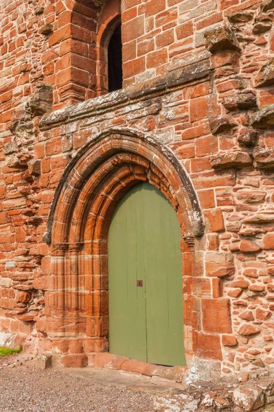 Fortrose Cathedral photo, South aisle doorway arch