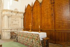 High altar and Georgian decalogue