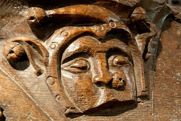 Fotheringhay, St Mary & All Saints Church photo, Fragment of medieval misericord