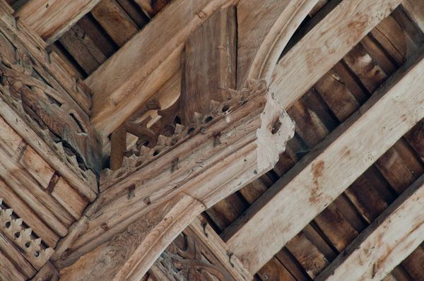 Fressingfield, St Peter & St Paul's Church photo, Hammerbeam roof detail