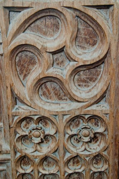 Fressingfield, St Peter & St Paul's Church photo, Carved bench end - wheel