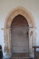 Friston, St Mary's Church, 12th century south door