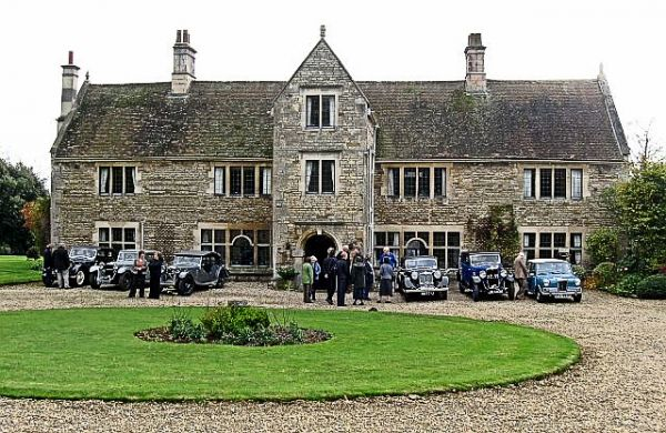 Fulbeck photo, Fulbeck Manor and classic Riley cars (c) Richard Green