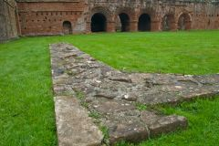 Cloister foundation wall