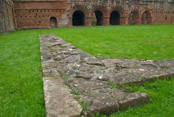 Furness Abbey photo, Cloister foundation wall