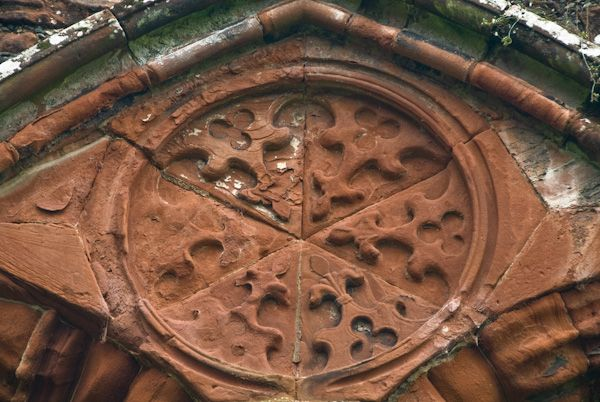 Furness Abbey photo, Medieval carving detail