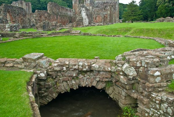 Furness Abbey photo, Drainage ditches