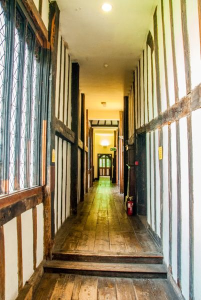 Gainsborough Old Hall photo, There are narrow timber-framed passageways throughout