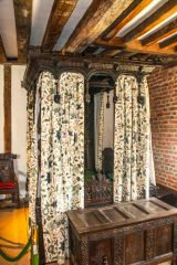 Gainsborough Old Hall, A beautifully carved bed