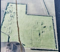 English Heritage aerial photo showing building foundations