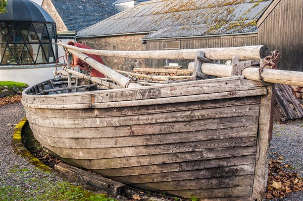 Gairloch Heritage Museum photo, Historic fishing boats outside the museum