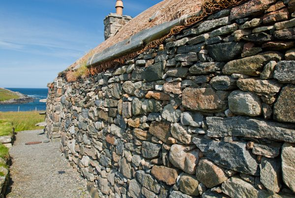 Garenin Blackhouse Village photo, Cottage exterior wall