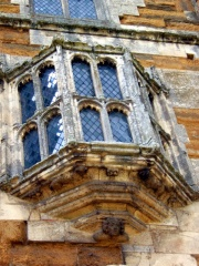 Oriel window on the gatehouse (c) David Wright