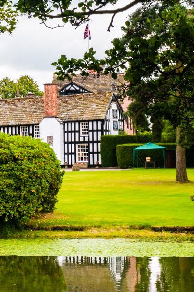 Gawsworth Hall photo, The view from Church Lane