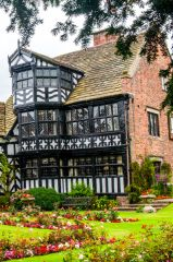 Gawsworth Hall, Tudor timber-framed windows