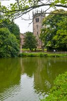 Gawsworth, St James Church, The church and pool